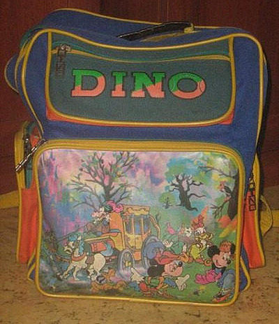 Школьный рюкзак в 90-е