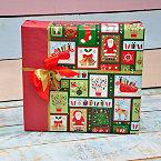 Подарочная упаковка с Санта Клаусом